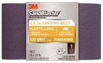 3M 9194 Sandblaster 3 x 24-In. 120-Grit Power Sanding Belt