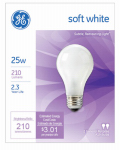 G E Lighting 97492 Soft White Light Bulbs, 25-Watt, 2-Pk., Must Purchase in Quantities of 12