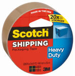 3M 3850T Heavy-Duty Packaging Tape, Tan, 2-In. x 60-Yard