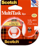 3M 25 Scotch Household Tape, Clear, .75 x 650-In.