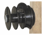 Dare Products ELF-WP-25 Electric Fence Insulator, Wood Post Multi-Groove, With Nail, Black, 25-Pk.