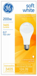 G E Lighting 11585 200-Watt Soft White Light Bulb