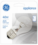 G E Lighting 15206 40-Watt Clear Appliance Light Bulb