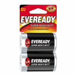 "Eveready Battery 1250SW-2 2-Pack ""D"" Super Heavy-Duty Batteries"