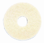 3M Commercial 08481 Polishing Floor Pad, 4100, White, 17-In.