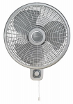 Lasko Products M16900 Oscillating Fan, Wall Mount, 16-In.