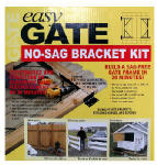 Homax/Rhodes American 80099 Easy Gate Steel No-Sag Bracket Kit