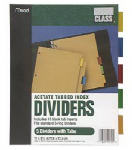 Acco/Mead 20250 11 x 8-1/2-Inch Colored Tab Index Dividers