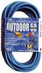Southwire/Coleman Cable 02368-06 50-Ft. 16/3 SJTW-A Blue Extension Cord