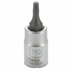 Ming Shin USA 263061 MM 1/4'' Drive T10 Torx Socket - 3 Pack