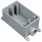 Thomas & Betts E980FFN-CTN PVC  Outlet Box, Single Gang, 1-In.