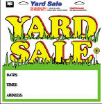 "Hy-Ko Prod 22616 13 x 13-Inch Multi Color Vinyl Self Adhesive ""Yard Sale"" Sign"