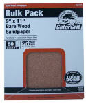 Ali Industries 4228 Sandpaper, Garnet Medium 80-Grit, 9 x 11-In., 25-Ct.