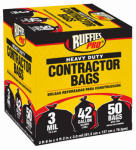 Berry Global 1190274 Heavy Duty Contractor Bags, 42-Gal., 50-Pk.