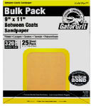 Ali Industries 4291 25-Count 9 x 11-Inch 220-Grit Gold Flexible or Flex Aluminum Oxide Stearate Sandpaper