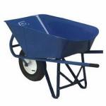 Wlmd-Dba Wellmade Products MILLER HD6 STEEL 6-Cu. Ft. Steel-Handled Contractor Type Wheelbarrow