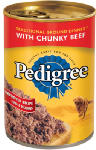 Mars Petcare Us 01004 Dog Food, Chunky Chopped Beef, 13.2-oz., Must Be Purchased in Quantities of 24
