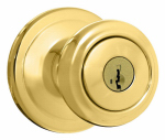 Kwikset 740CN 3 SMT CP K4 Signature Brass Cameron Entry Knob Lockset with SmartKey