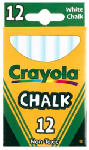 Crayola 51-0320 12-Pack White Chalk