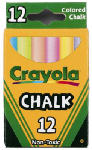 Crayola 51-0816 12-Pack Colored Chalk