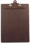 A & W Products 4008 Memo Clipboard, Brown Masonite, 6 x 9 x 3-In.