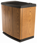 Essick Air Products H12 300HB Console Evaporative Humidifier Light Oak and Black Trim, 5.4-Gal. Water Capacity, Up to 3700 Sq. Ft. Coverage