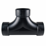 Charlotte Pipe & Foundry ABS 00448  0600HA Clean Outdoor or Outer Tee, ABS/DWV, 2-Way, 3-In.