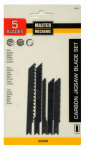 Disston 280214 5-Piece Metal-Cutting High-Speed Steel Jigsaw Blade