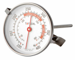 Taylor Precision Products 5911N Candy & Deep Fry Thermometer, Dial, Stainless Steel, 2-1/2-In.