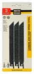 Disston 281063 3-Piece All-Purpose Carbon/High-Speed Steel Reciprocating Saw Blade