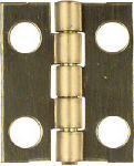 National Mfg/Spectrum Brands Hhi N211-193 4-Pk., .75 x 5/8-In. Narrow Hinges, Light-Duty, Brass