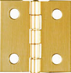 National Mfg/Spectrum Brands Hhi N211-334 4-Pack 1 x 1-Inch Brass Broad Light-Duty Hinges