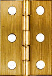 National Mfg/Spectrum Brands Hhi N211-383 2-Pk., 2 x 1-3/8-In. Broad Hinges, Light-Duty, Antique Brass