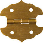 National Mfg/Spectrum Brands Hhi N211-813 2-Pack 1-1/8 x 1-1/8-Inch Antique Brass Decorative Hinges