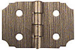 National Mfg/Spectrum Brands Hhi N211-458 2-Pack 5/8 x 1-Inch Antique Brass Decorative Hinges