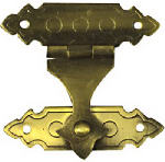 National Mfg/Spectrum Brands Hhi N211-953 Antique Brass Cabinet Catch, .75 x 1-3/8-In., 2-Pk.