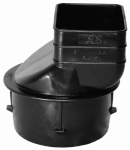 Advanced Drainage Systems 0464AA Adapter, Round Poly Drain Tube, 4-In. Downspout, 2-In. x 3-In. x 4-In.