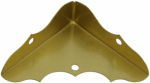 National Mfg/Spectrum Brands Hhi N213-447 Brass Cabinet Corner, 4-Pk.