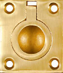 National Mfg/Spectrum Brands Hhi N219-063 Cabinet Ring Pull, Bright Brass, 1-3/8-In.