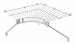 Closetmaid 2106600 Corner Wire Shelf, White, 12-In.