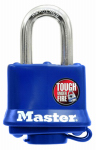 Master Lock 312D 1-1/2 Inch Laminated Padlock With Blue Weatherproof Cover