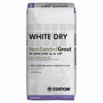 Custom Bldg Products WDG25 Dry Tile Grout, White, 25-Lbs.