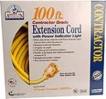 Southwire/Coleman Cable 01799 100-Ft. 10/3 Yellow American Contractor Series Outdoor Cord