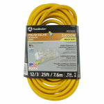 Southwire/Coleman Cable 03497 25-Ft. 12/3 Yellow American Contractor Series Outdoor Cord