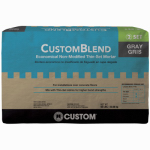 Custom Bldg Products CBTSG50 Custom Blend Thin Set Mortar, Gray, 50-Lb.