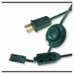 Ho Wah Gentin Kintron Sdnbhd 09493 Christmas Tree Cube Tap Extension Cord,  16/2, Green, 9-Ft.