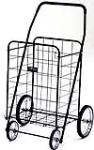 Narita Trading NTC001BK Black Jumbo 4-Wheel Folding Shopping Cart