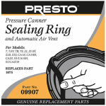 National Presto Ind 09907 Pressure Cooker Sealing Ring