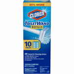 Clorox The 14882 Disinfecting Toilet Wand Head Refill with Cleaner, 6-Ct.