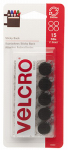 Velcro Usa Consumer Pdts 90069 Sticky Back Fasteners, Black, 5/8-In. Coins, 15-Ct.